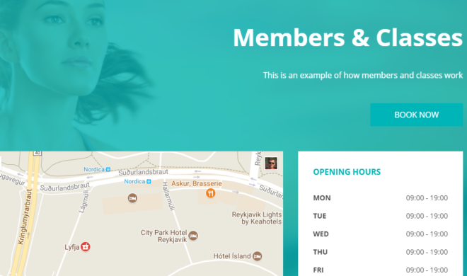 Use the membership and classes booking feature to set up your yoga center, gym, golf classes, fitness classes or event.